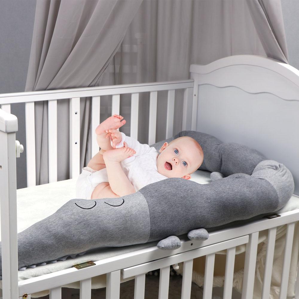 185cm Baby Bed Bumper Cartoon Crocodile Doll Safe Cushion Crib Bedding Protector