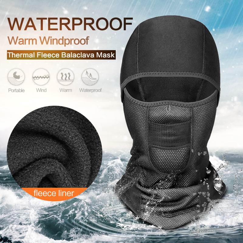 Unisex Winter Warm Cycling Mask Fleece Full Face Cover Anti-dust Windproof Ski Mask Snowboard Hood Bike Thermal Balaclavas Scarf