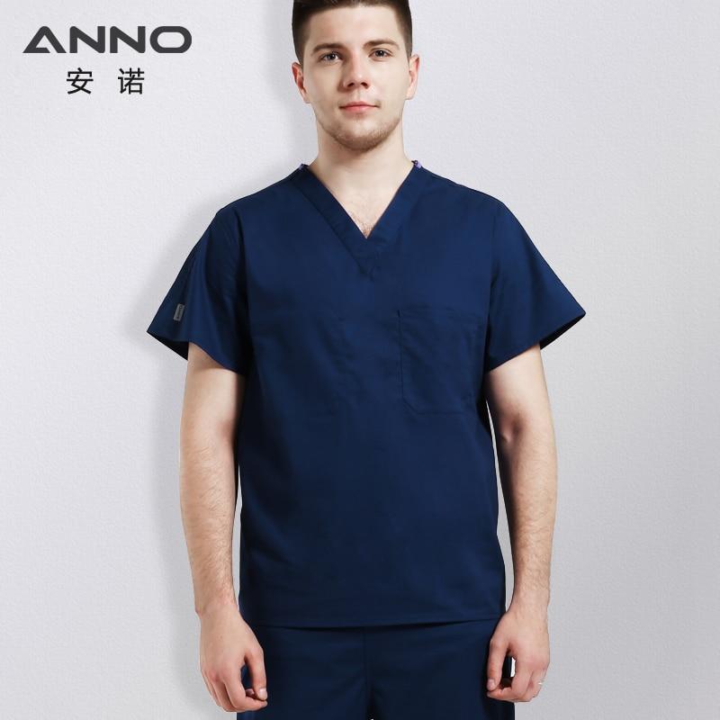 ANNO Medical Body Scrubs Female Male Medical Cloth Nurse Doctor Uniform Surgical Clothing Nursing Work Wear Dentistry
