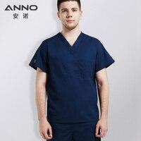 ANNO Medical Male Body Scrubs Medical Clothing Nurse Doctor Uniform Surgical Clothing Nursing Work Wear Dentistry