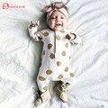 Blanco de alta calidad suave de los mamelucos de primavera y autunm ropa de bebé para recién nacido niña mono ropa de recién nacido ropa de niños
