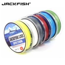 JACKFISH 100M 4 strand PE Braided Fishing Line With Gift 10-80LB PE Fishing Line with package Carp Fishing Saltwater