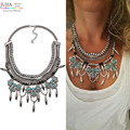 Hot sale New design wholesale factory sale fashion necklace metal chain rivet chunky statement  mixed maxi Necklace