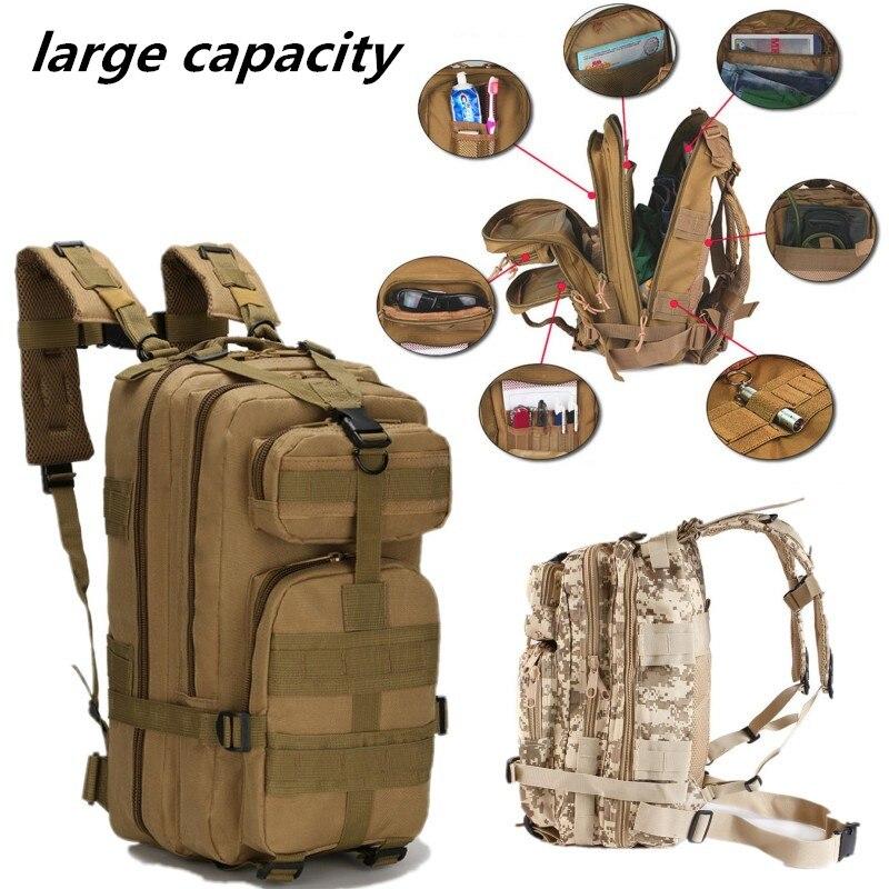 600D 3 P sac à dos tactique militaire en plein air Sport armée sac à dos Sport randonnée pêche chasse Camouflage sac vélo sac