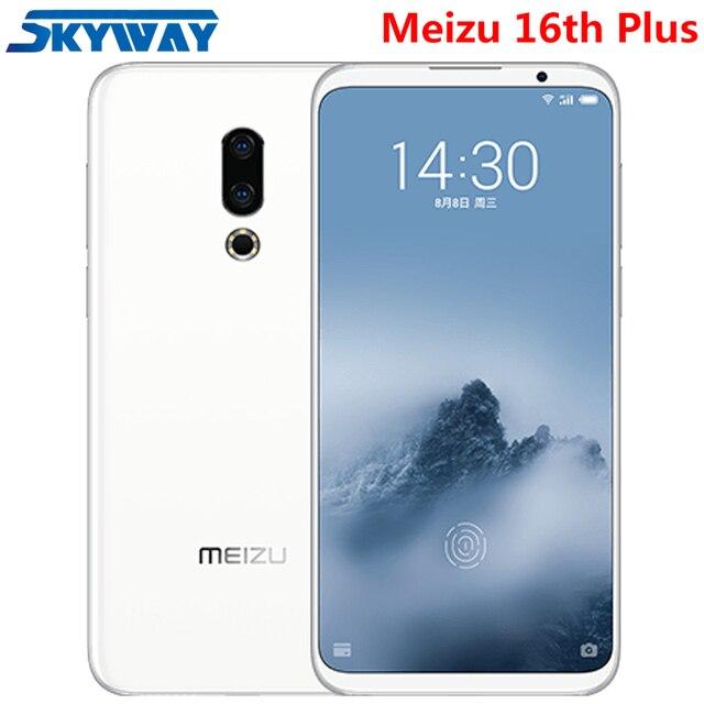 "Оригинал Meizu 16th плюс 16 плюс 4G LTE Snapdragon 845 Octa Core Adreno 630 6 GB 128 GB 6,5 ""FHD 2160x1080 P Full Экран сотовый телефон"