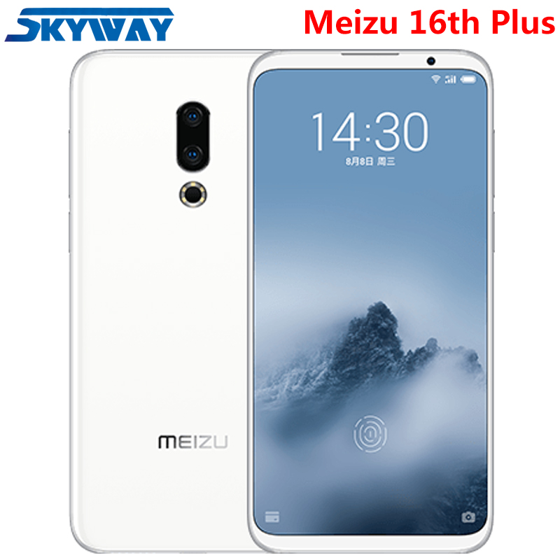 "Original Meizu 16th Plus 16 Plus 4G LTE Snapdragon 845 Octa Core Adreno 630 6GB 128GB 6.5"" FHD 2160x1080P Full Screen Cell Phone"