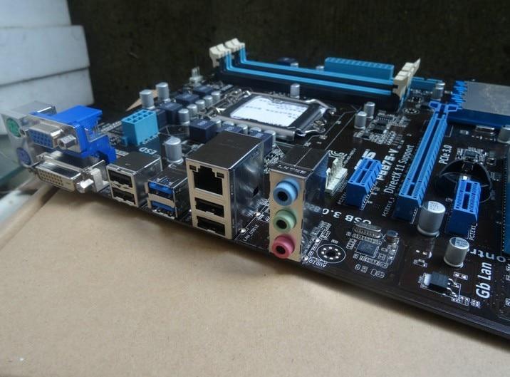 ФОТО original motherboard  P8B75-V DDR3 LGA1155 boards for 22/32nm CPU SATA III USB3.0 32GB B75 Desktop motherboard
