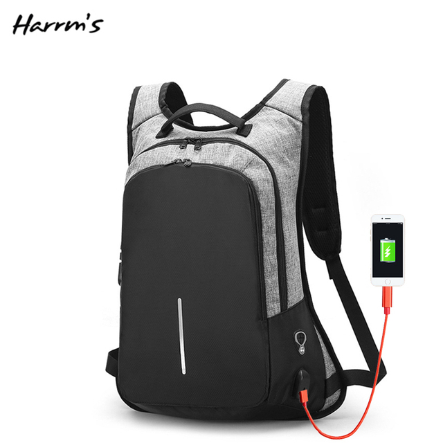 Fashion USB Headset Mouth Anti-theft Backpack Charging Men Waterproof Travel Backpack  Laptop Backpack School High QualityBags