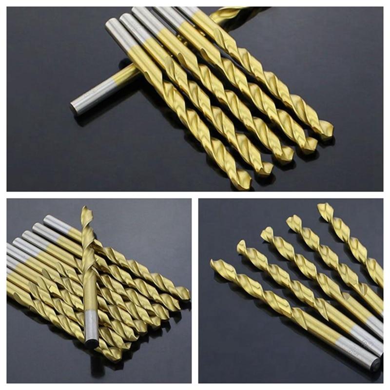 13PCS / Kit HSS Vysokorychlostní ocel Titanový povlak kobaltový - Vrták - Fotografie 2