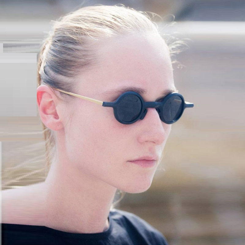 2018 mode Gothic Steampunk Kleine Runde Sonnenbrille Frauen Marke Design Vintage Retro Sonnenbrille Oculos De Sol Feminino UV400