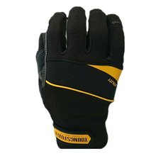 Performace Extra Durable Puncture Resistance Non-slip Working Gloves (Large,Black)