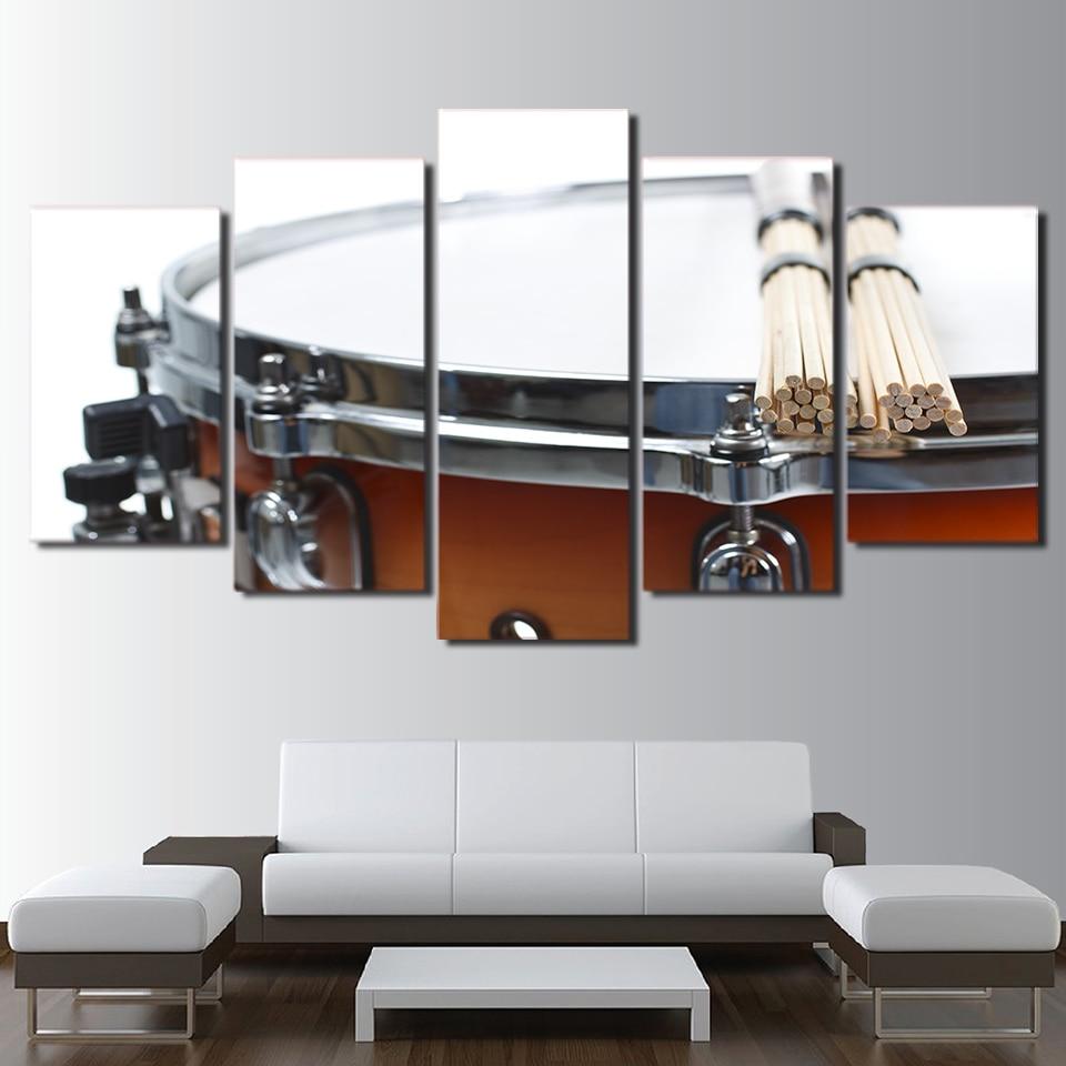 US $5.81 40% di SCONTO|Quadri moderni Stampe HD Poster Da Parete Per  Soggiorno 5 Pannello Tamburo Strumento Musicale Della Decorazione Della  Casa ...