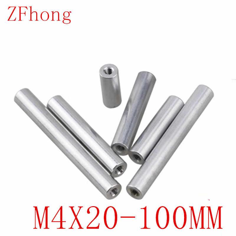 YJZG 10pcs M2 M2.5 M3 M4 Round Aluminum Column Rods Standoff Colourful Spacer Stud Fastener for Multirotor Color : RED, Length : 30mm, Size : M2 10PCS