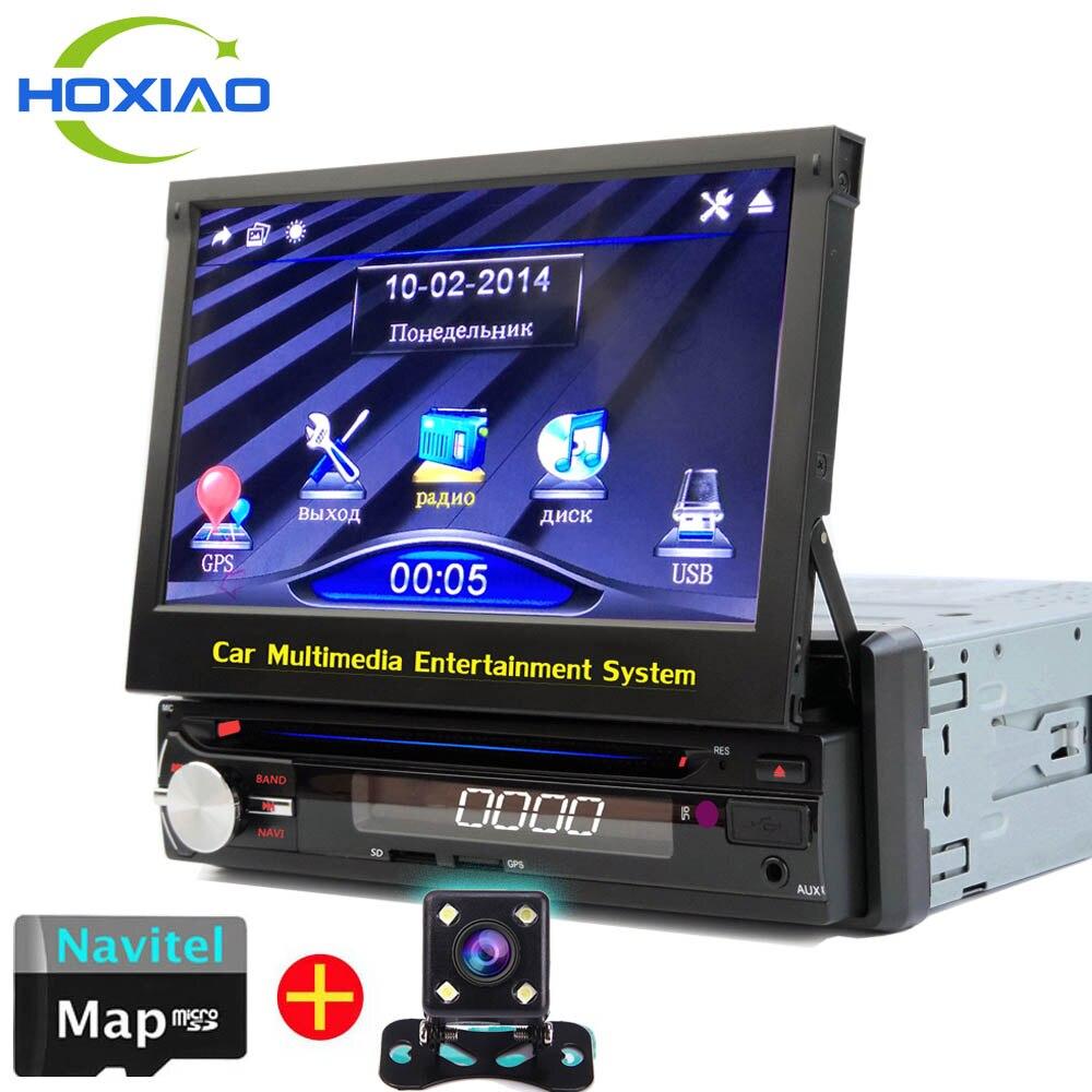 imágenes para NUEVA 1 Din Coche reproductor de DVD de Navegación GPS para modelos de coches Antiguos de Radio de Música Bluetooth Cámara de Visión Trasera USB SD De radio Auto 1din gps