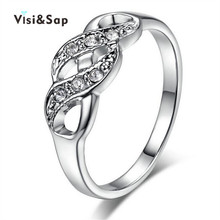 цена на Euramerica ring colorful white Gold plated Rings For Women jewelry AAA crystal CZ diamond Wedding gifts fashion Jewelry VSR216
