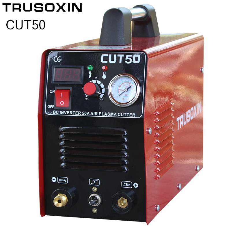 220V/110V Dual Power Mosfet 50A Inverter DC Air Plasma Cutter Cutting Machine Cutting Tools ship from germany portable dc inverter plasma cutter with pressure gauge waterproof 5 5kva 220v