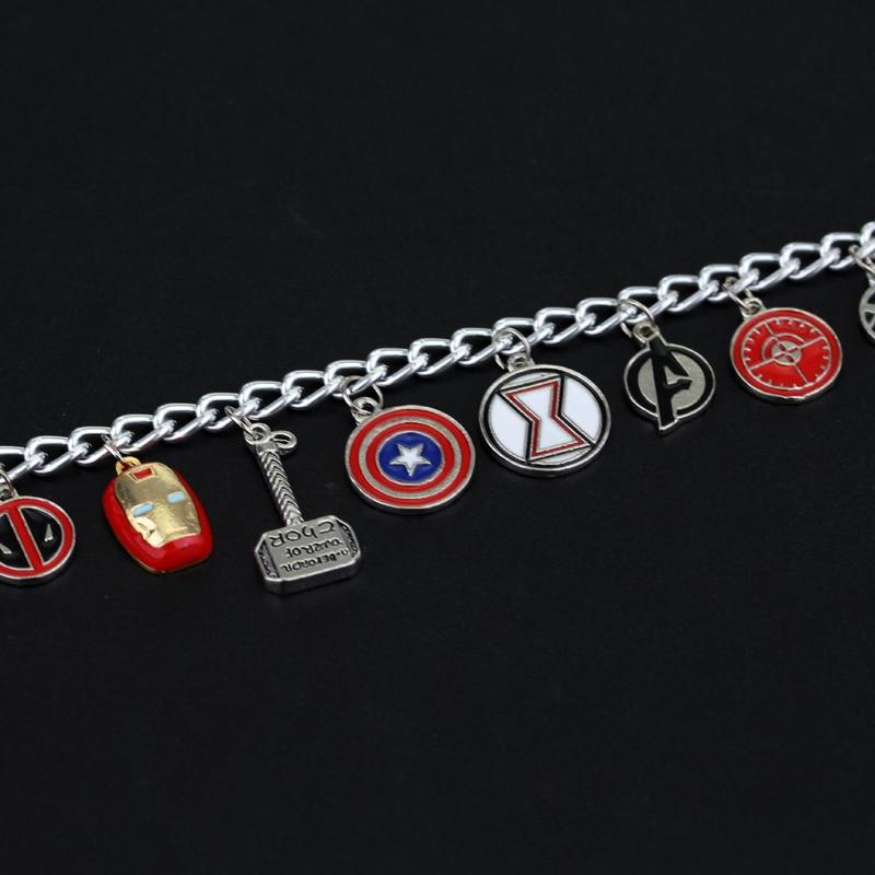 dongshengSuperhero Marvel Avengers Emalj Logo Captain America Iron - Märkessmycken - Foto 4
