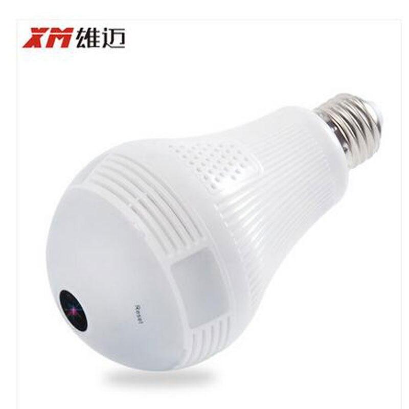 XM Panoramique 360 VR 960 P 1080 P 3MP HD IP Caméra Smart LED Lumières Cam Starlight nuit vision Ampoule de Sécurité À Domicile caméra