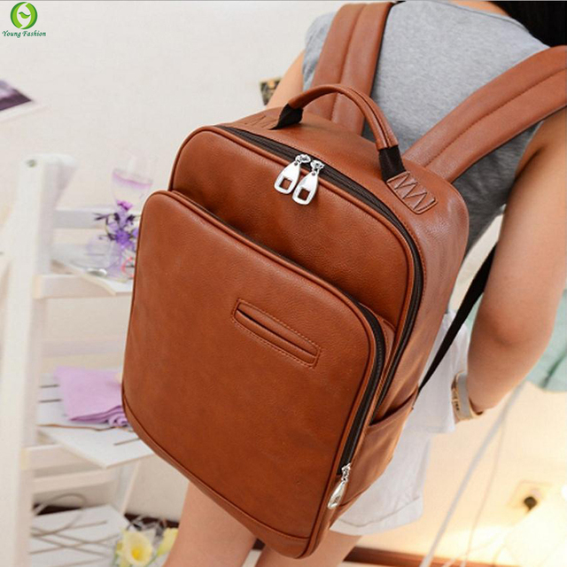 new 2017 College Wind leather Backpack men backpacks women backpack men travel bags  school backpacks Laptop bag
