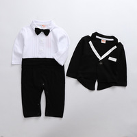 New Born Baby Clothing Spring Autumn Gentleman Rompers Baby Boys Cotton Jumpsuit Baby Body Clothes Newborn Jumpsuit