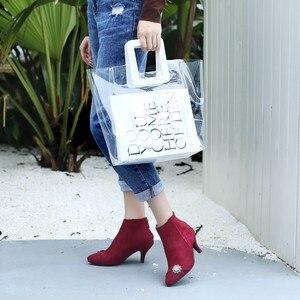 Image 5 - Большие размеры 11, 12, 13, 14, 15, 16, 17, модные ботинки на молнии в европейском и американском стиле с острым носком на тонком каблуке