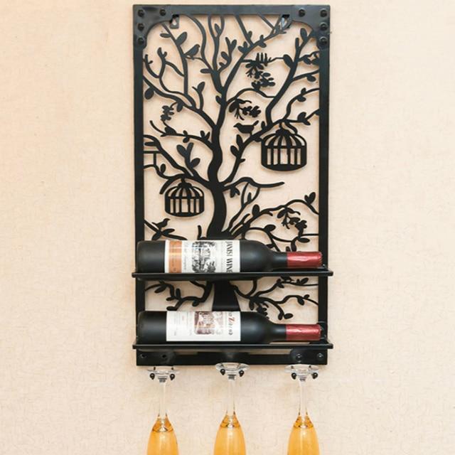 Aliexpress.com : Buy Dining Room Wine Holder Wall Decoration Glass ...