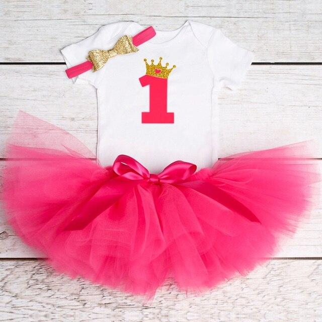 Bé Sinh Nhật Đầu Tiên Trang Phục Tutu Vải Tuyn 1 Năm Party Rước Bé Làm Lễ Rửa Tội Gown Hồng Mịn Bé Dresses 1 Sinh