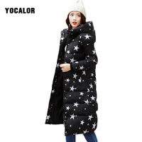 2017 Winter Clothes Cartoon Printing Long Hooded Jacket Women Parka Wear Basic Thick Overcoat High Quality Quilting Cotton Coat