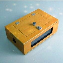 Voir à travers la boîte de pointe (en bois) colombe boîte Flip Over Vanish boîte tours de magie magicien scène Illusions Gimmick accessoires Magia jouets