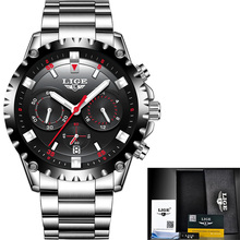 Luxury Brand LIGE Watch 9832