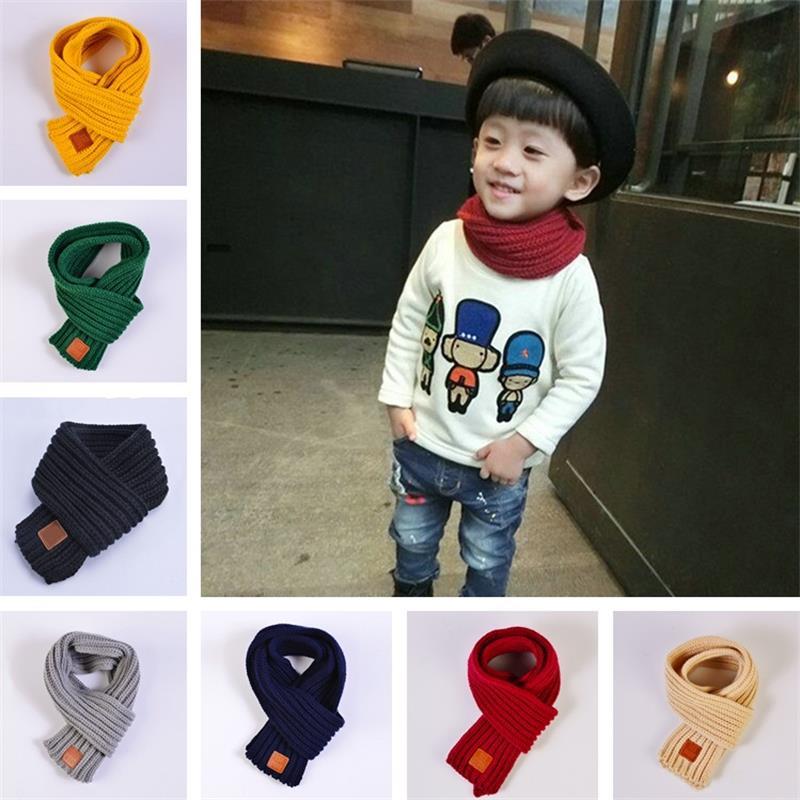 Winter Warm Baby Kids Boys Girls Collar Scarf Shawl Saliva Neckerchief Scarves