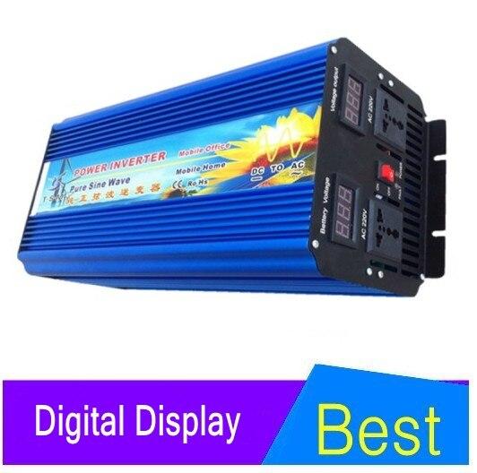 цена на 4000W 8000W(peak) 24v to 220v Pure Inverter+ inverter 12v 220v pure sine wave, 4000w power inverter for solar panel system
