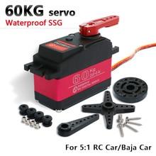 Baixo servo digital de torque, servo 60kg ds5160 hv para 1/5 redcat hpi baixa 5b ss servo carro rc compatível com SAVOX 0236 losi xl 5t