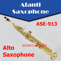 Afanti Music Bb tone / Brass body / Gold finish Soprano Saxophone (ASE 913)