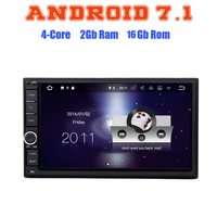 Android 7 1 Quad Core 2G Ram 7 Inch 2 DIN Universal Car NO DVD Auto