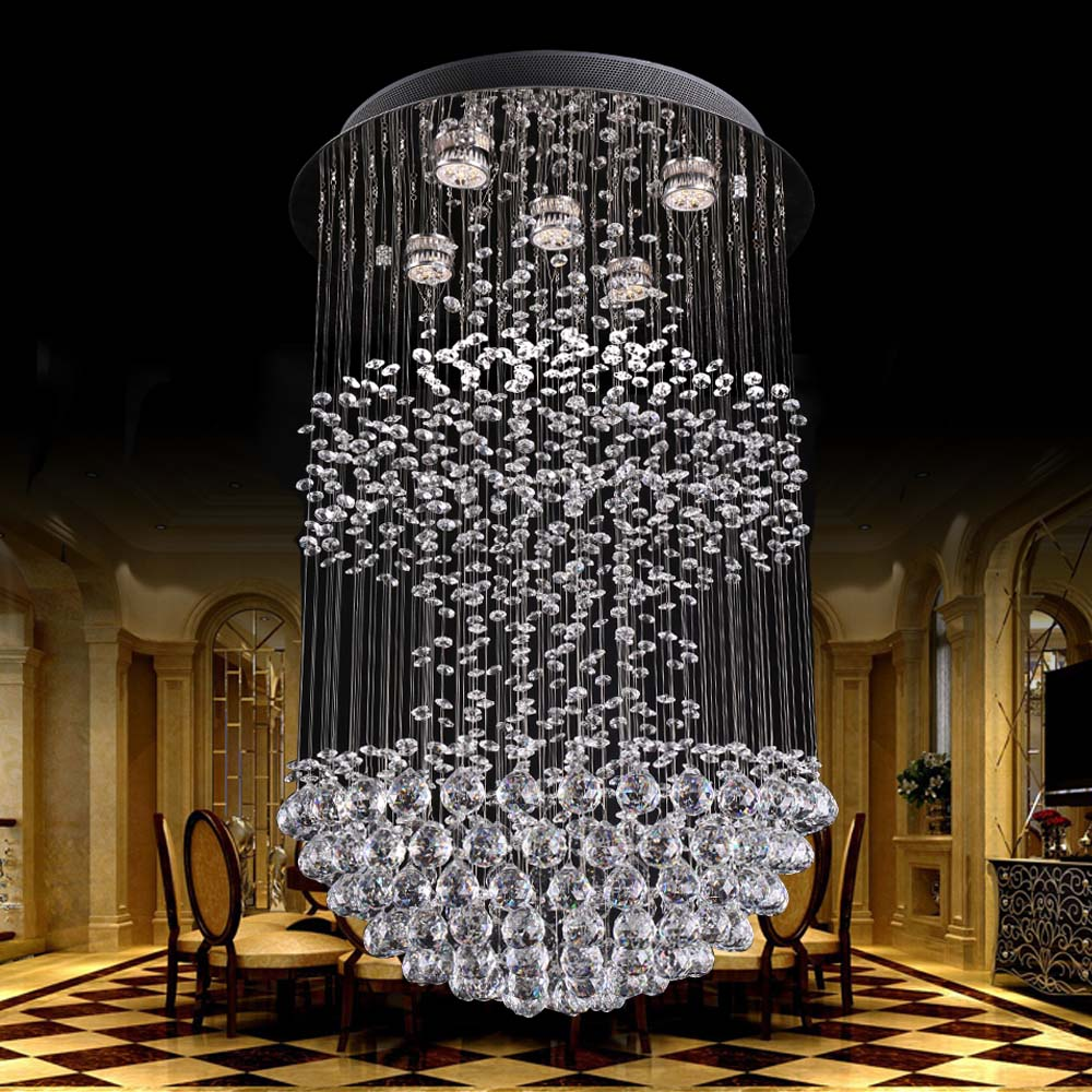 Holigoo Crystal Chandelier Light Hanging Lamp Crystal Lighting Fixtures  Luminiare Modern Fixture Crystal Pendant Ceiling Lamp