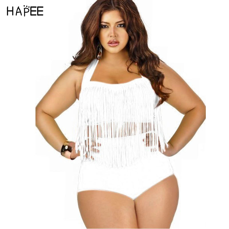 fatkini swimwear plus size  bikini Fringe Tassel Bikinis Set Sexy Push Up swimwear high waisted bathing suit women Swimsuit 5XL hot sale women ladies sexy retro padded push up tassel high waist plus size bikini swimwear swimsuit bathing
