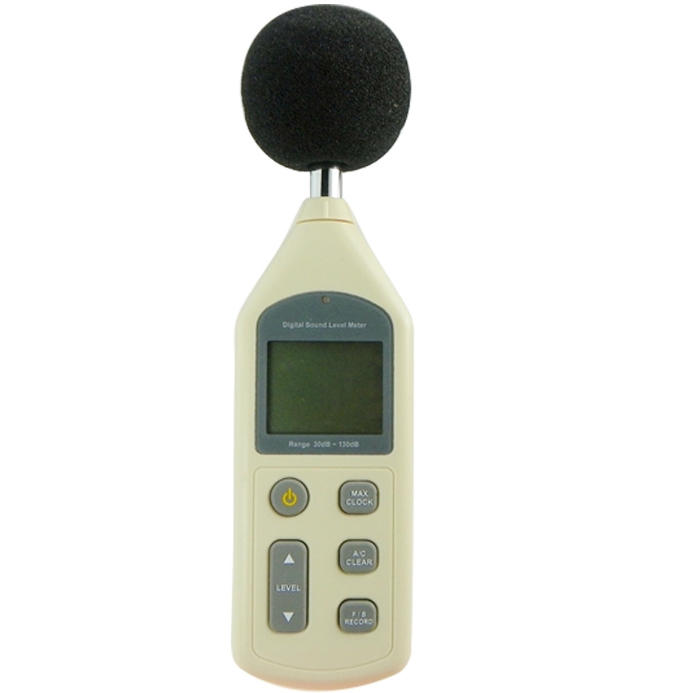 ФОТО 30-130dB Digital Sound Level Meter 0.1dB LCD Noise Frequency Tester AC/PWM Output Datas Store Calendar FAST/SLOW USB+CD Software