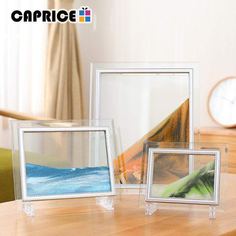 Online Shop Moving Liquid Sand Glass Photo Picture Frame Home Desk ...