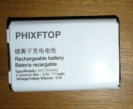 PHIXFTOP Original AB1720AWM battery For PHILIPS X500 cellphone Xenium CTX500 9@9K Mobile phone