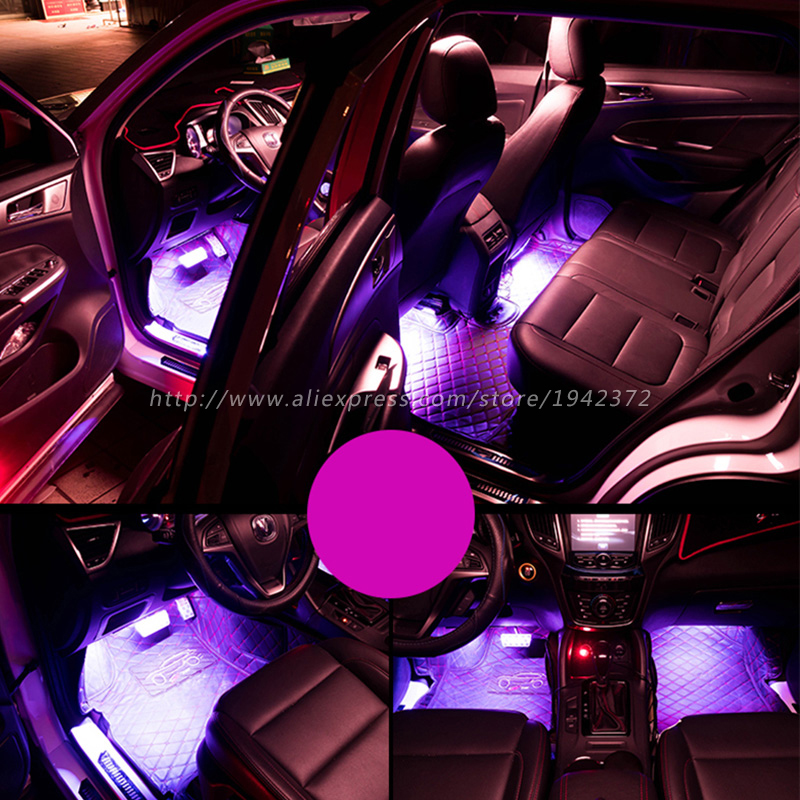 Image 5 - RGB 5050 SMD Flexible LED Strip Interior Decoration Light with Remote Control DC12V-in Decorative Lamp from Automobiles & Motorcycles