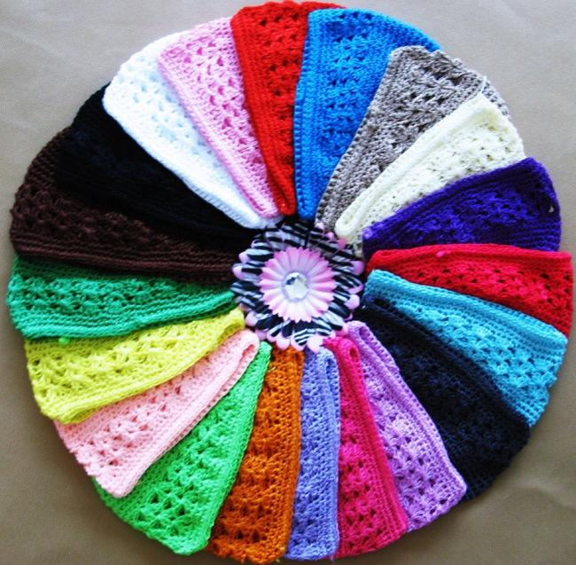21 colours New high quality baby Crochet <font><b>Cap</b></font> Skullies <font><b>Kufi</b></font> Hats Toddler Infant Girl Beanies Knitted Hat baby accessories 10pcs