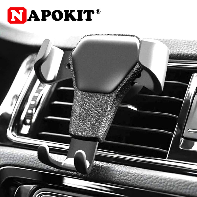 New Universal Gravity Car Holder for GPS Mobile Phone Hold Car Air Vent Windshield Mount Clip Auto Phone Fastener Navigator Rack