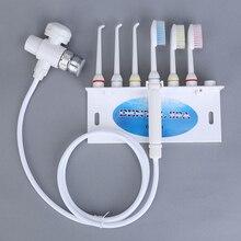 Cuidados dentários água irrigador oral flosser dentes mais limpo jato escova de dentes torneira irrigador oral