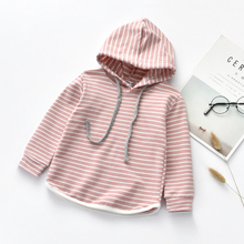 Baby Girls Hooded Stripe Long Sleeve Clothes