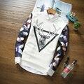 Мода зима и Осень мужчины ручной олень Rangifer tarandus sweatershirt длинным рукавом оленей Пуловер Рождество Мужчины толстовки