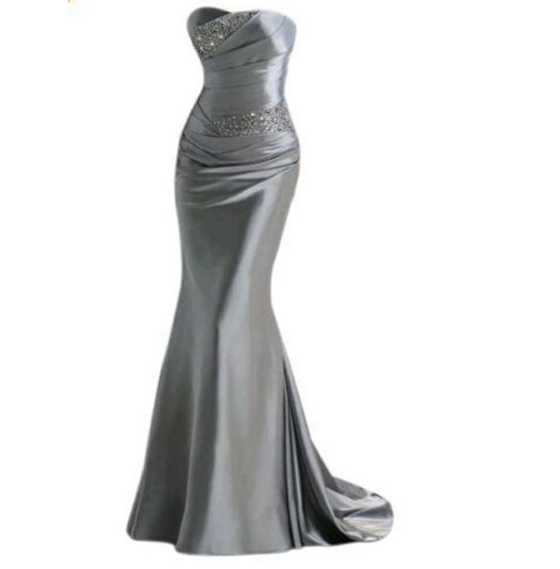 Popular Satin Strapless Dress-Buy Cheap Satin Strapless Dress lots ...