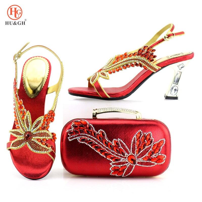 Nouveauté femmes africaines correspondant Design italien chaussure et sac ensemble pour mariage chaussures italiennes avec sac assorti italie talons fins