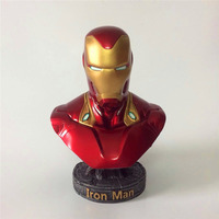 18 CM Avengers 3 Iron Man Resin Bust Infinity War Part I /II Statue Iron Man MK50 Action Figure Model Toy New Collection gift