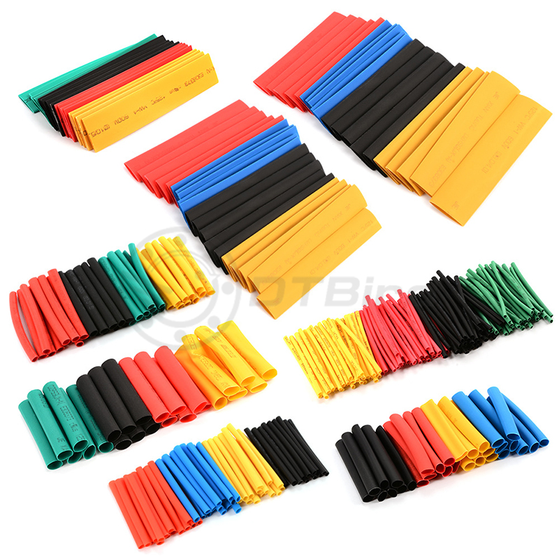 Image 4 - 328Pcs/Lot Polyolefin Assorted Heat Shrink Tubing Insulation Shrinkable Tube Wrap Wire Cable Multicolor Tools-in Tool Parts from Tools